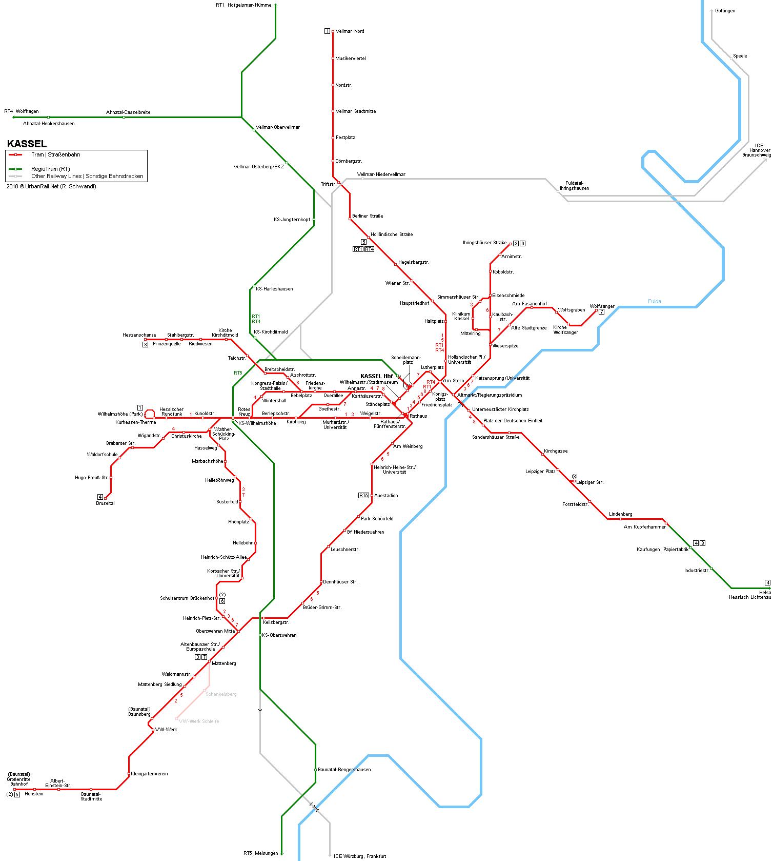 Kassel Tram Fahrplan