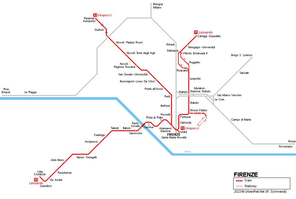 UrbanRail.Net > Europe > Italy > Toscana > Firenze Tram ...